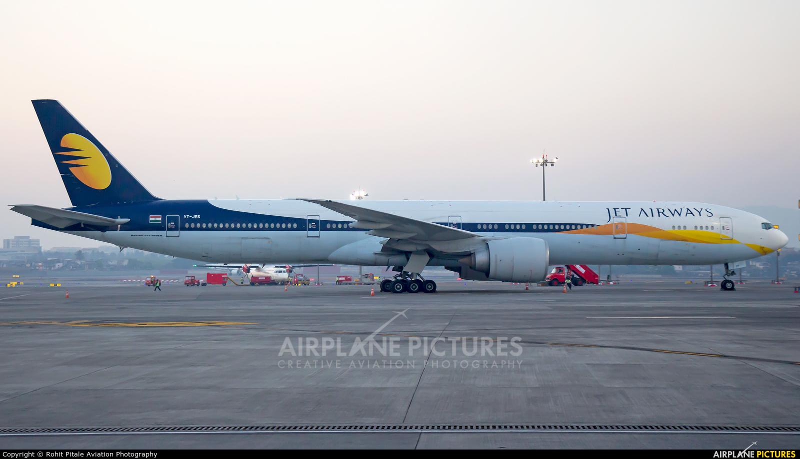 Jet Airways VT-JES aircraft at Mumbai - Chhatrapati Shivaji Intl