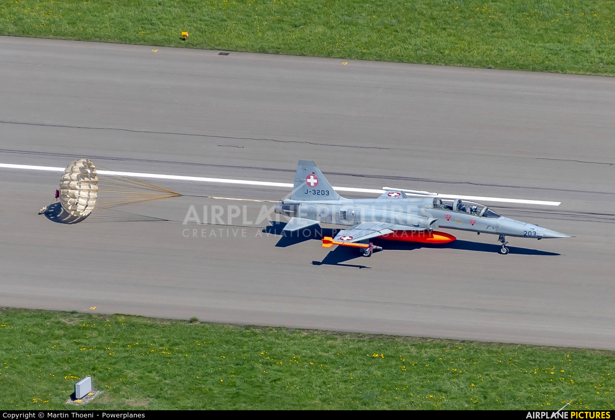 Switzerland - Air Force J-3203 aircraft at Meiringen