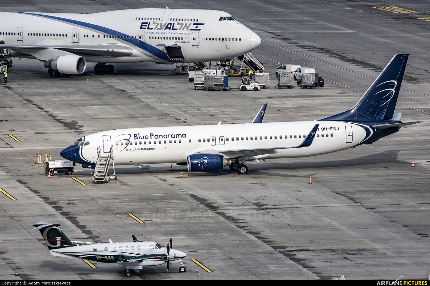 Blue Panorama Airlines 9H-FSJ aircraft at Katowice - Pyrzowice