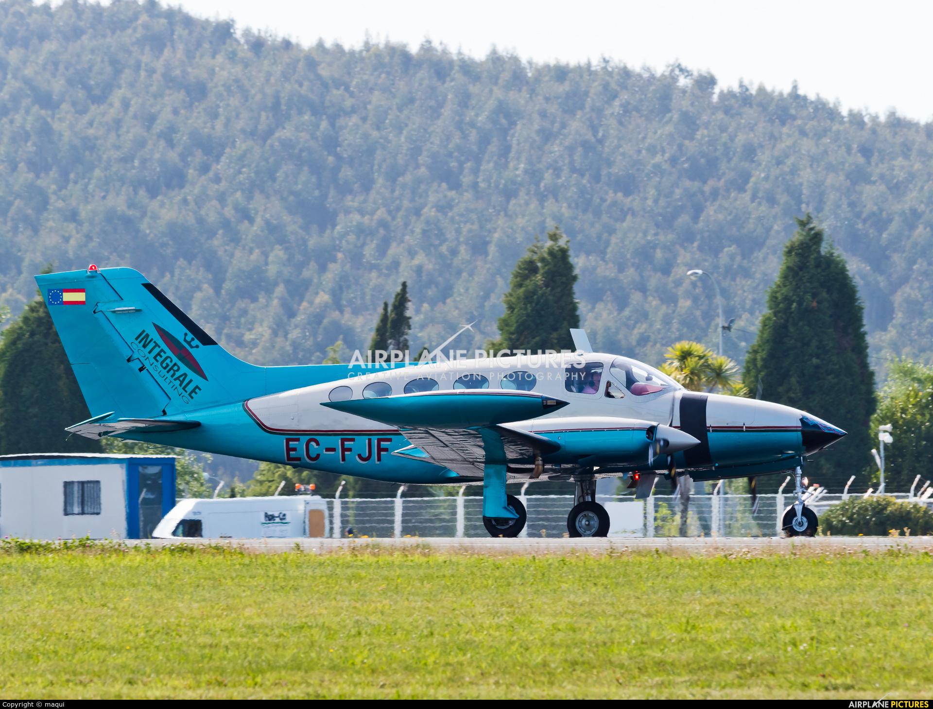 Private EC-FJF aircraft at La Coruña