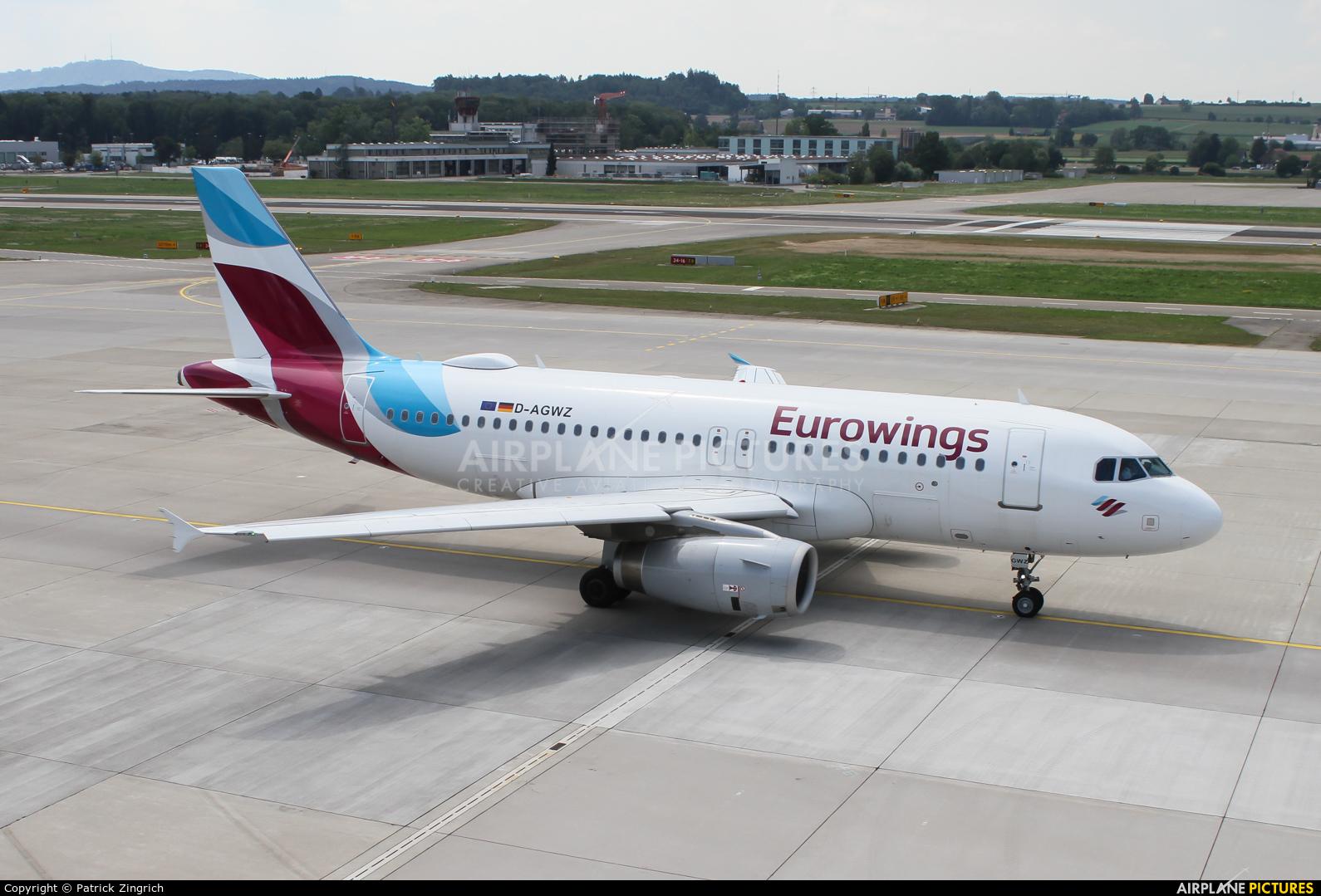 Eurowings D-AGWZ aircraft at Zurich