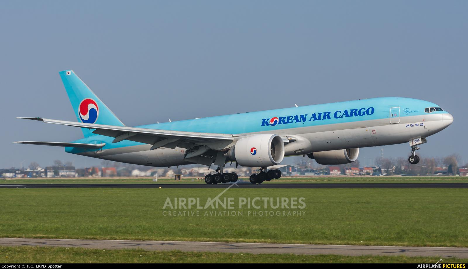 Korean Air Cargo HL8005 aircraft at Amsterdam - Schiphol