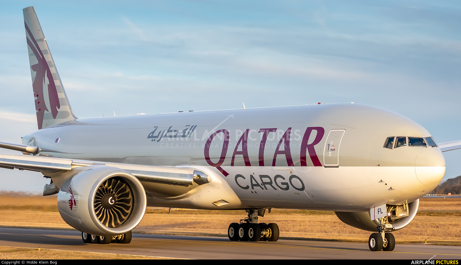 Qatar Airways Cargo A7-BFL aircraft at Luxembourg - Findel