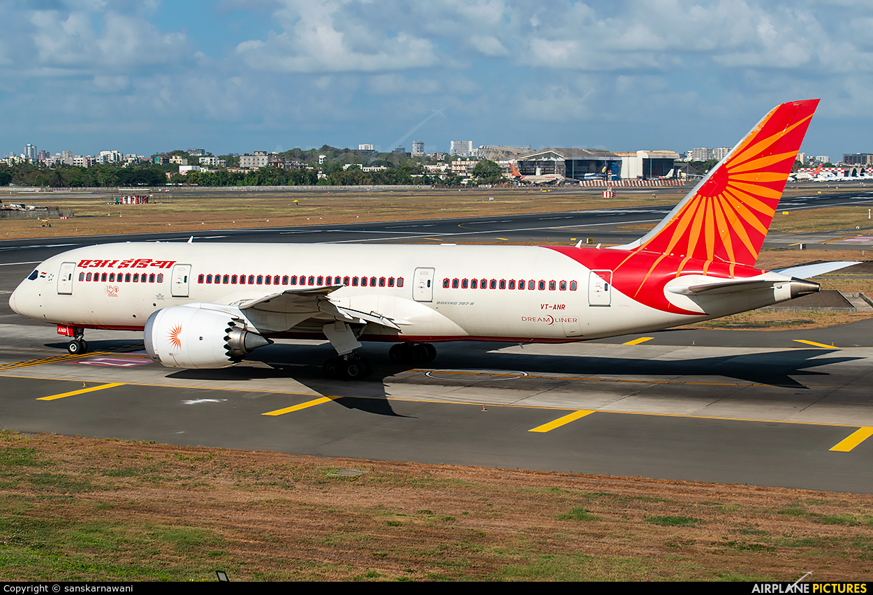 Air India VT-ANR aircraft at Mumbai - Chhatrapati Shivaji Intl