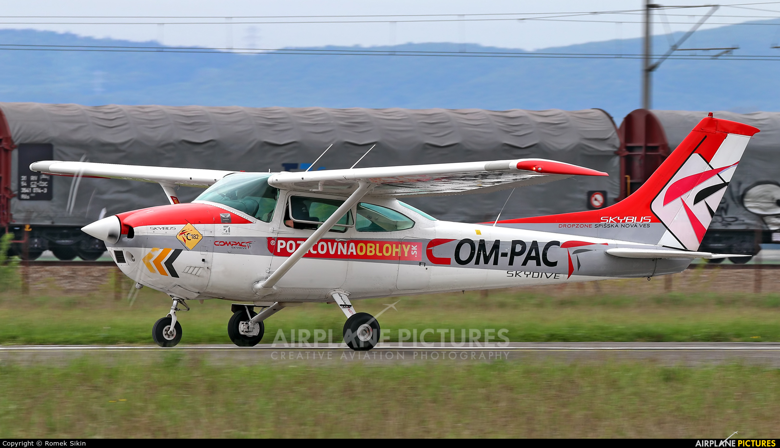 Compact OM-PAC aircraft at Piestany