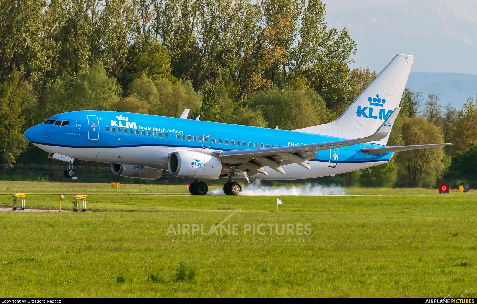 KLM PH-BGL aircraft at Kraków - John Paul II Intl
