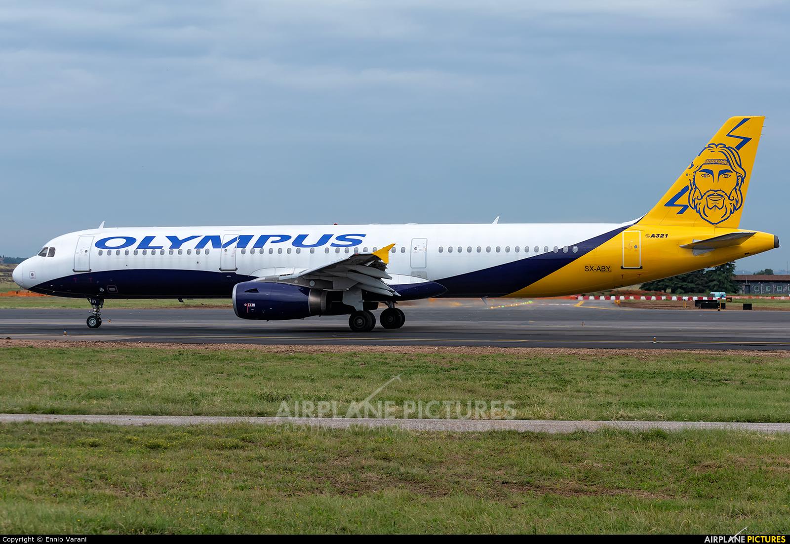 Olympus Airways SX-ABY aircraft at Verona - Villafranca