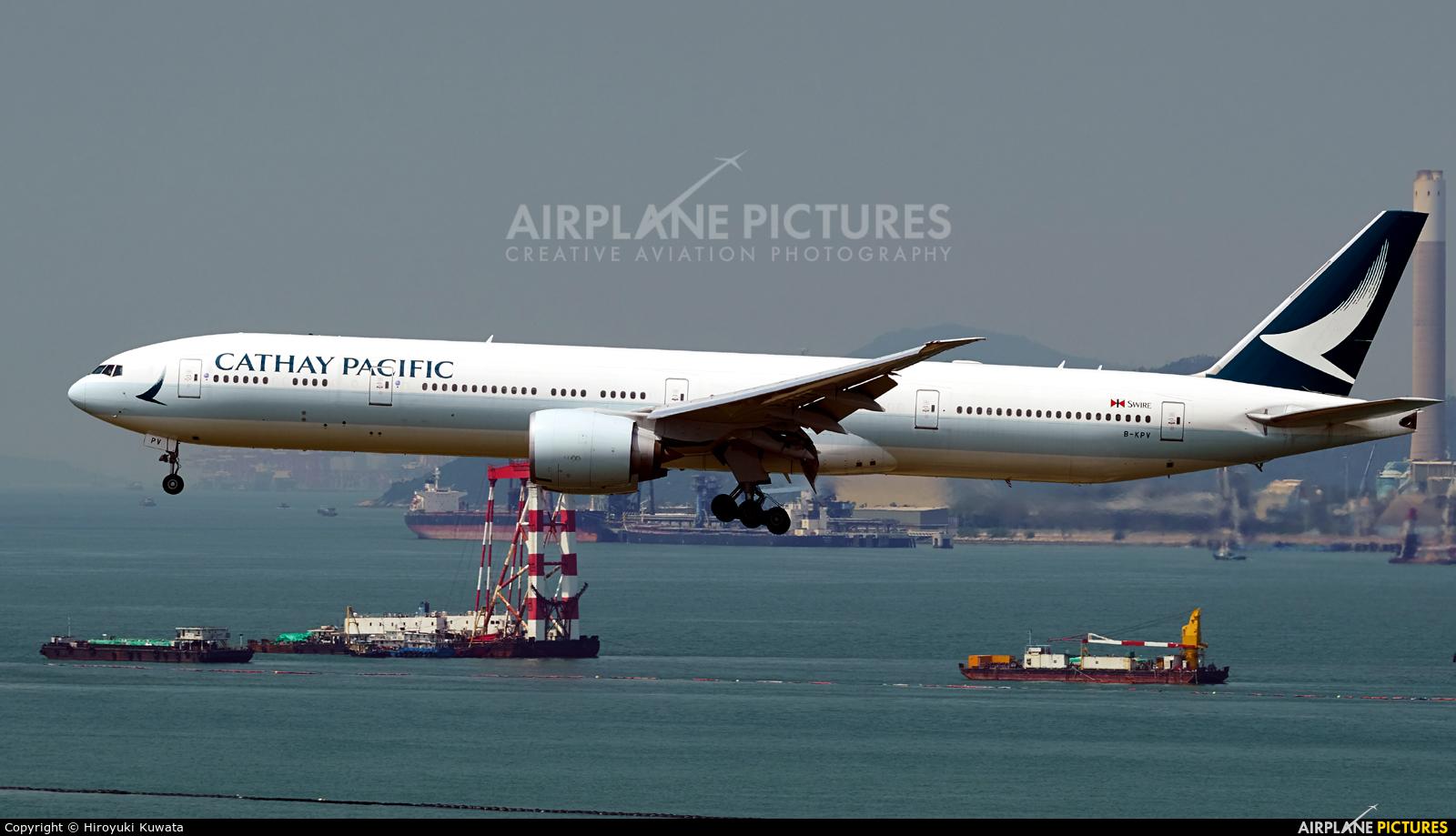 Cathay Pacific B-KPV aircraft at HKG - Chek Lap Kok Intl