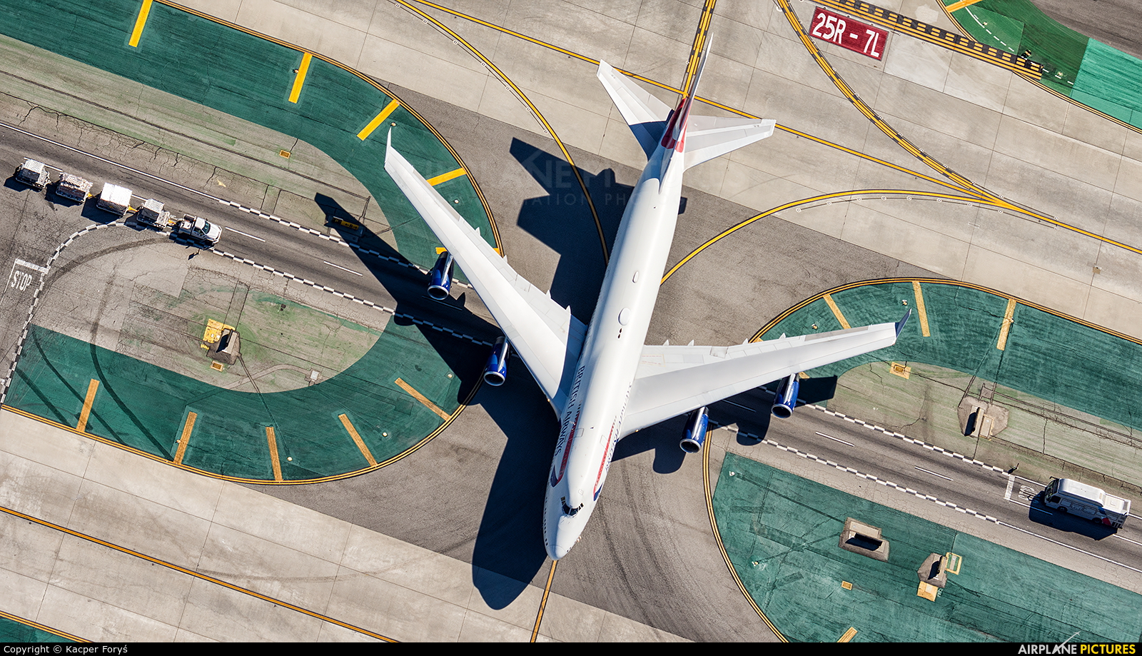 British Airways G-BYGG aircraft at Los Angeles Intl