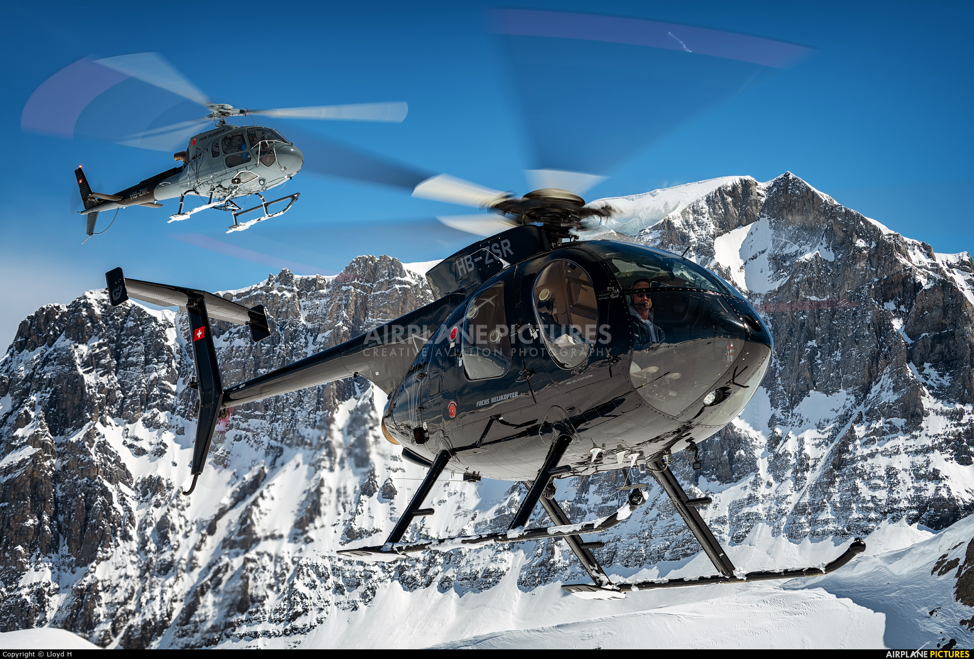 Fuchs Helikopter HB-ZSR aircraft at Off Airport - Switzerland