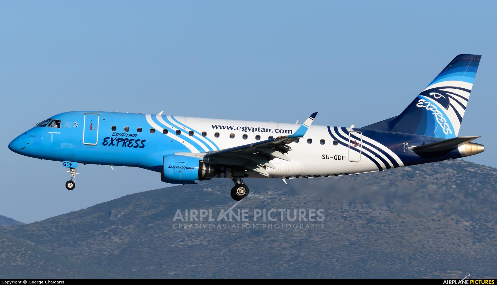 Egyptair Express SU-GDF aircraft at Athens - Eleftherios Venizelos