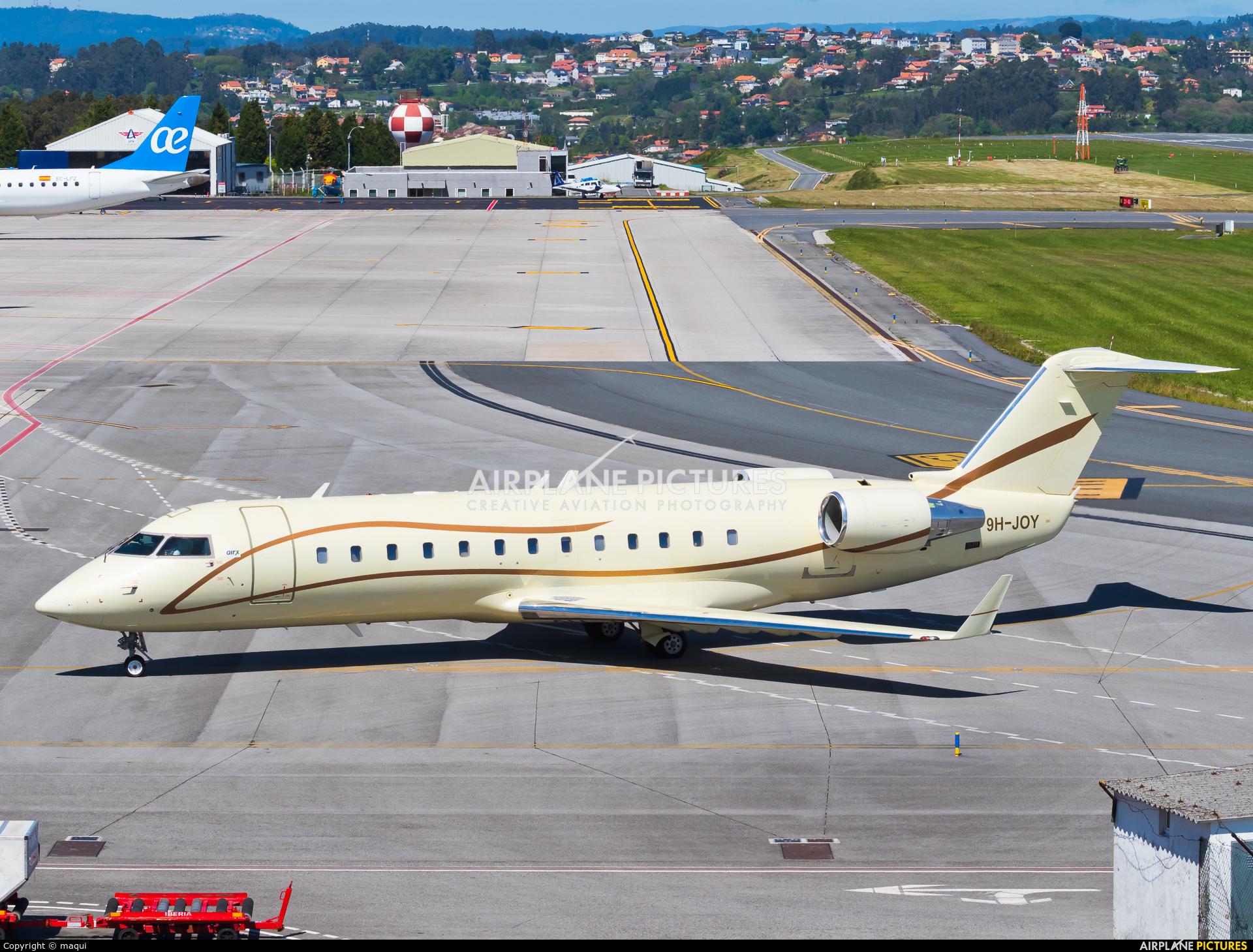 Air X 9H-JOY aircraft at La Coruña
