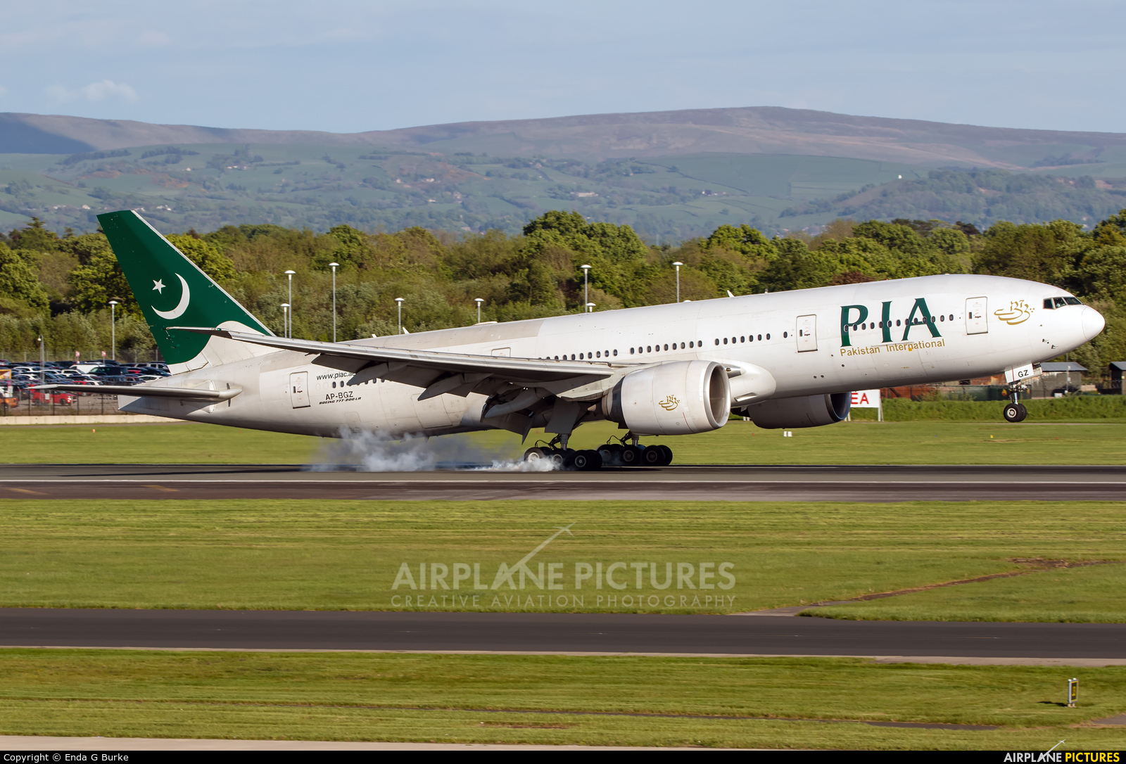 PIA - Pakistan International Airlines AP-BGZ aircraft at Manchester