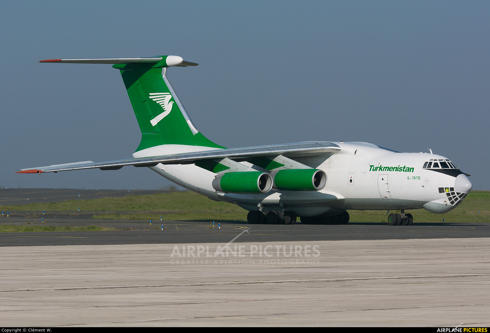 Turkmenistan Airlines EZ-F426 aircraft at Chalons Vatry Airport