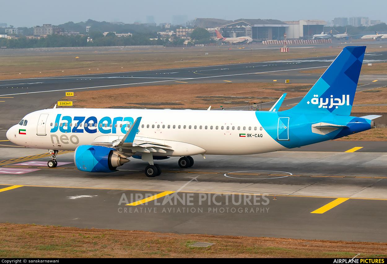 Jazeera Airways 9K-CAQ aircraft at Mumbai - Chhatrapati Shivaji Intl