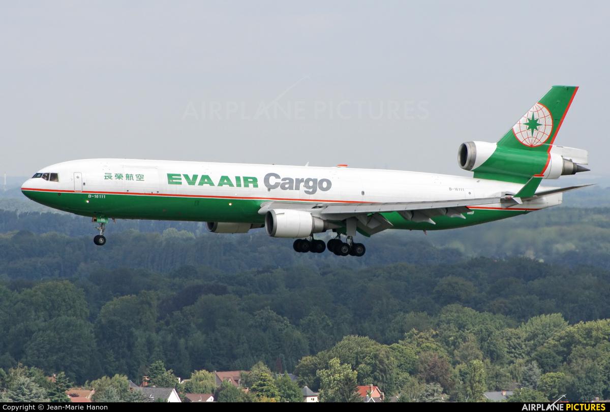 EVA Air Cargo B-16111 aircraft at Brussels - Zaventem