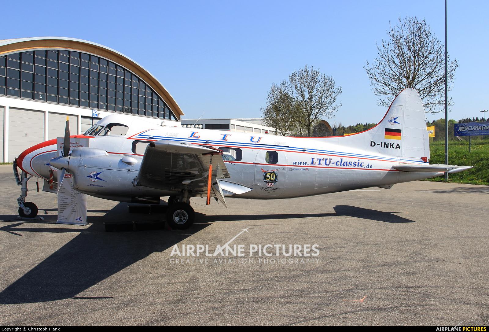 LTU D-INKA aircraft at Friedrichshafen