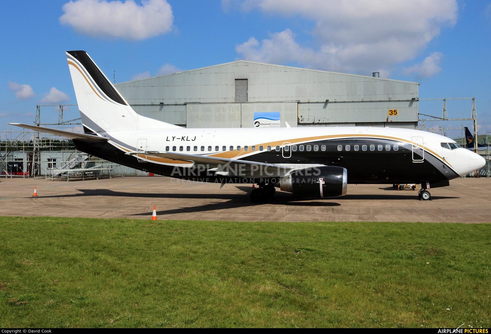 KlasJet LY-KLJ aircraft at East Midlands