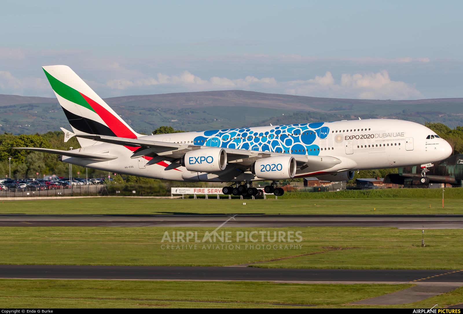 Emirates Airlines A6-EOS aircraft at Manchester