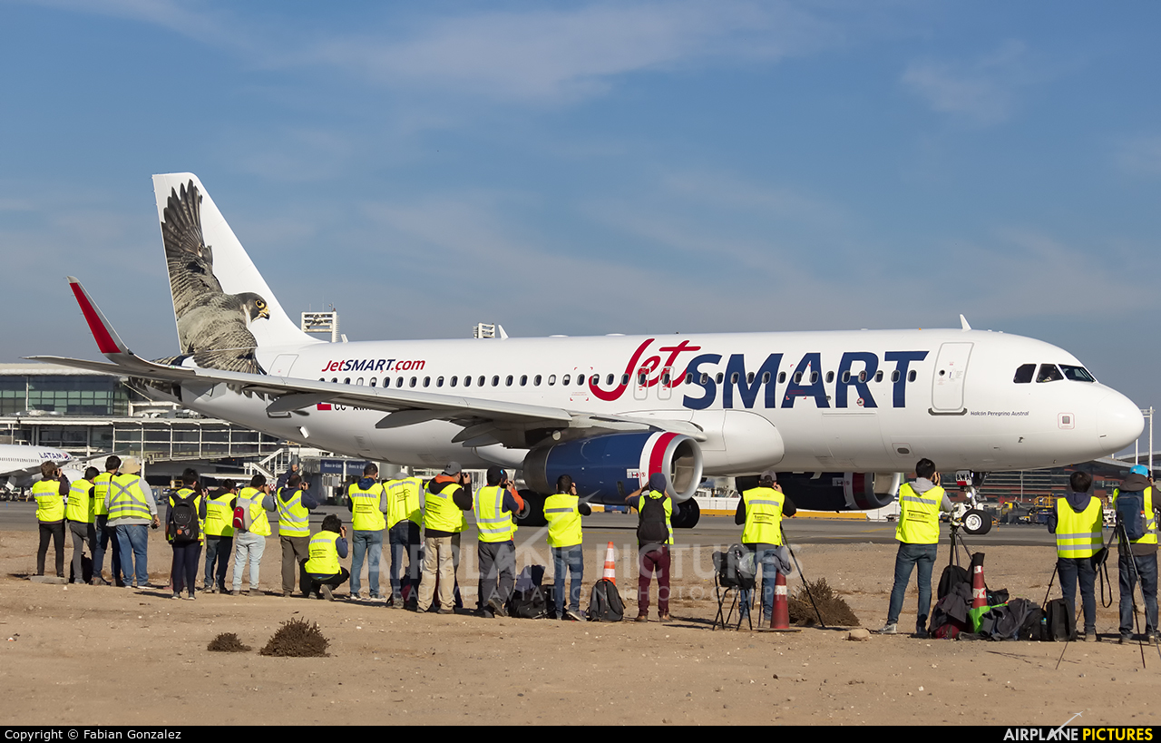 JetSMART CC-AWA aircraft at Santiago de Chile - Arturo Merino Benítez Intl