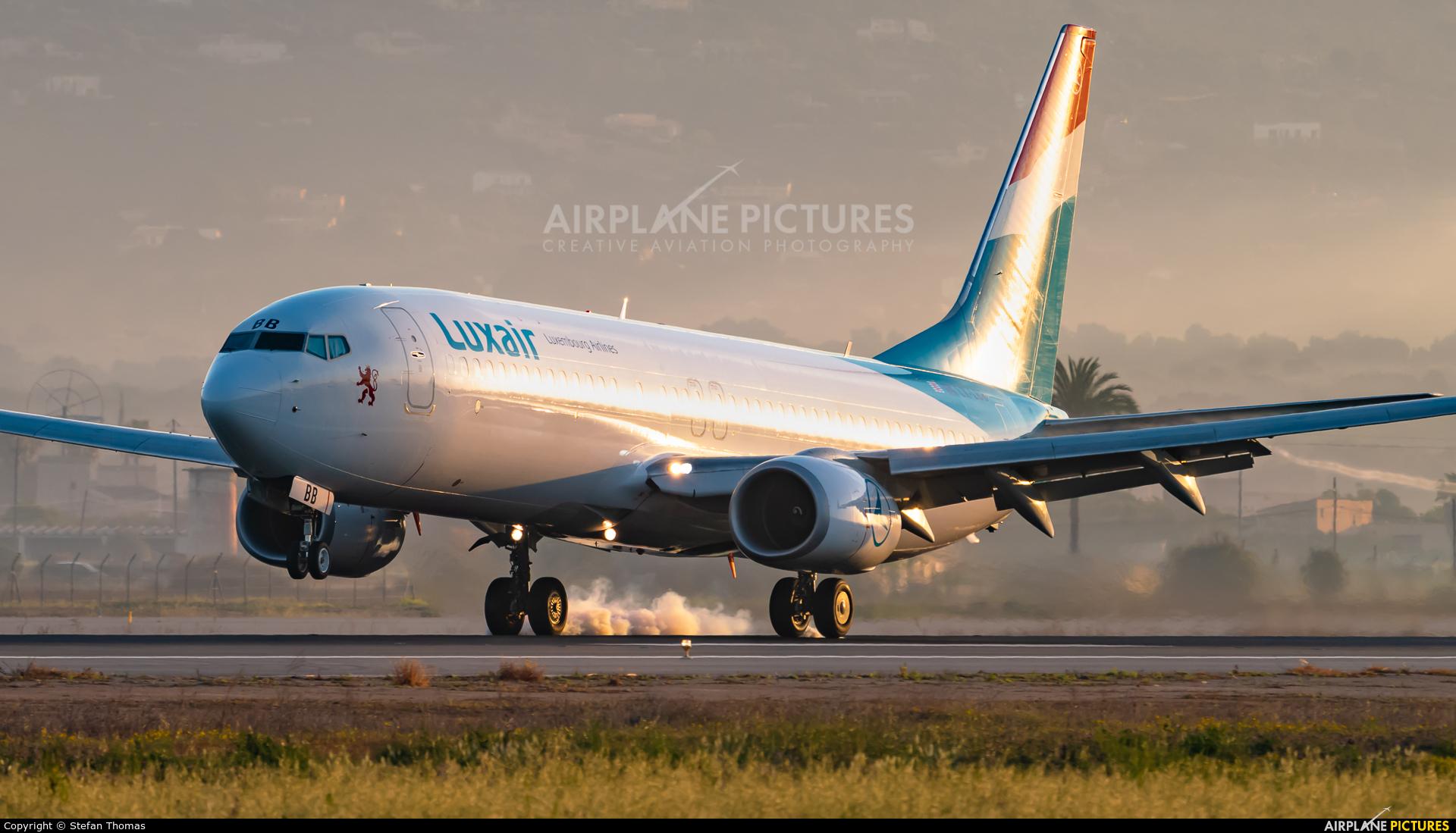 Luxair LX-LBB aircraft at Palma de Mallorca