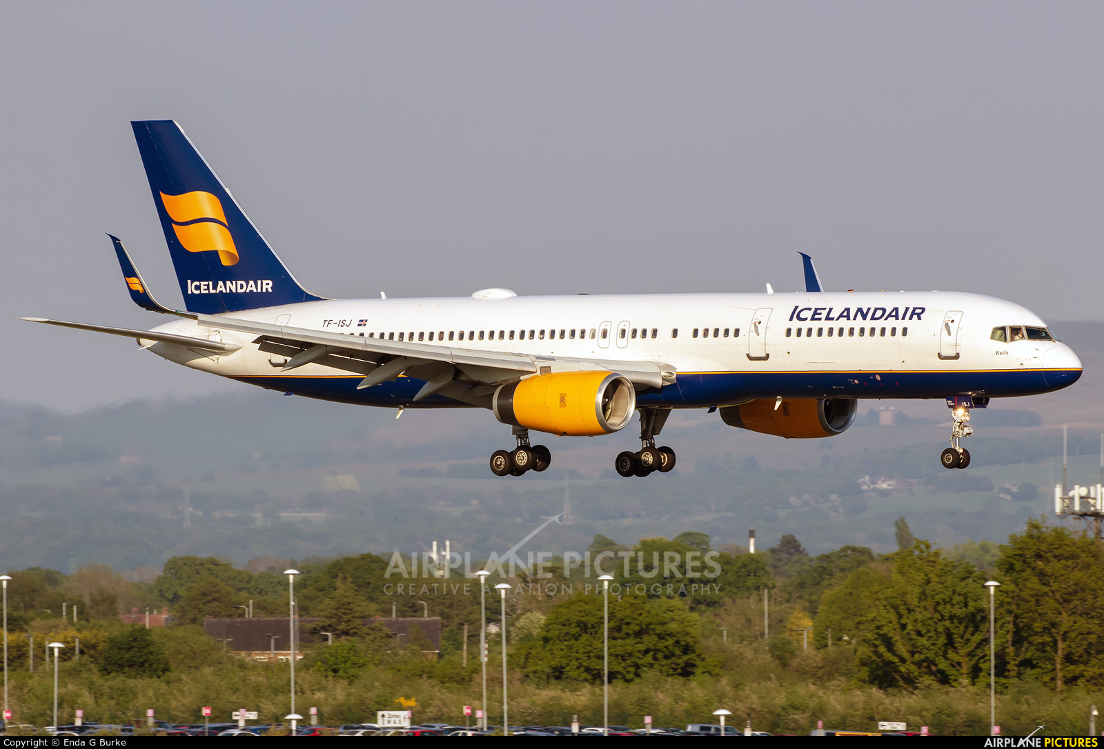 Icelandair TF-ISJ aircraft at Manchester
