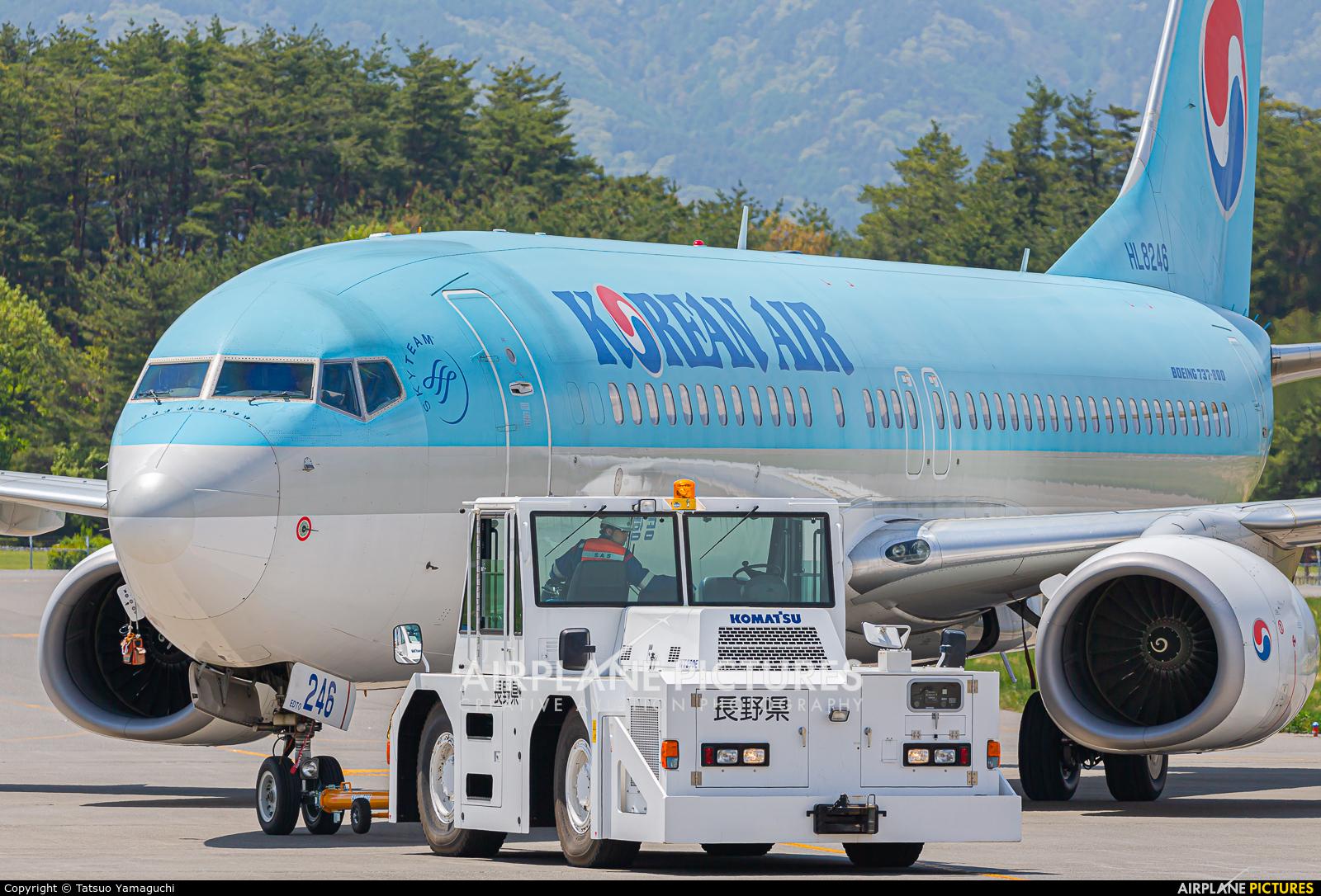 Korean Air HL8246 aircraft at Shinshu - Matsumoto