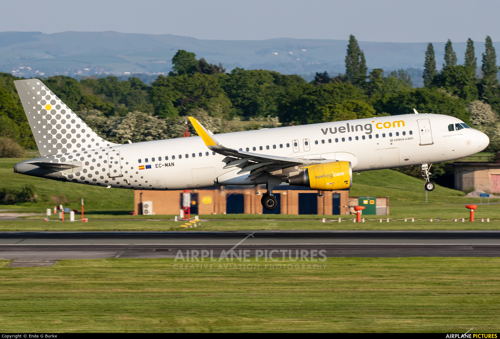 Vueling Airlines EC-MAN aircraft at Manchester