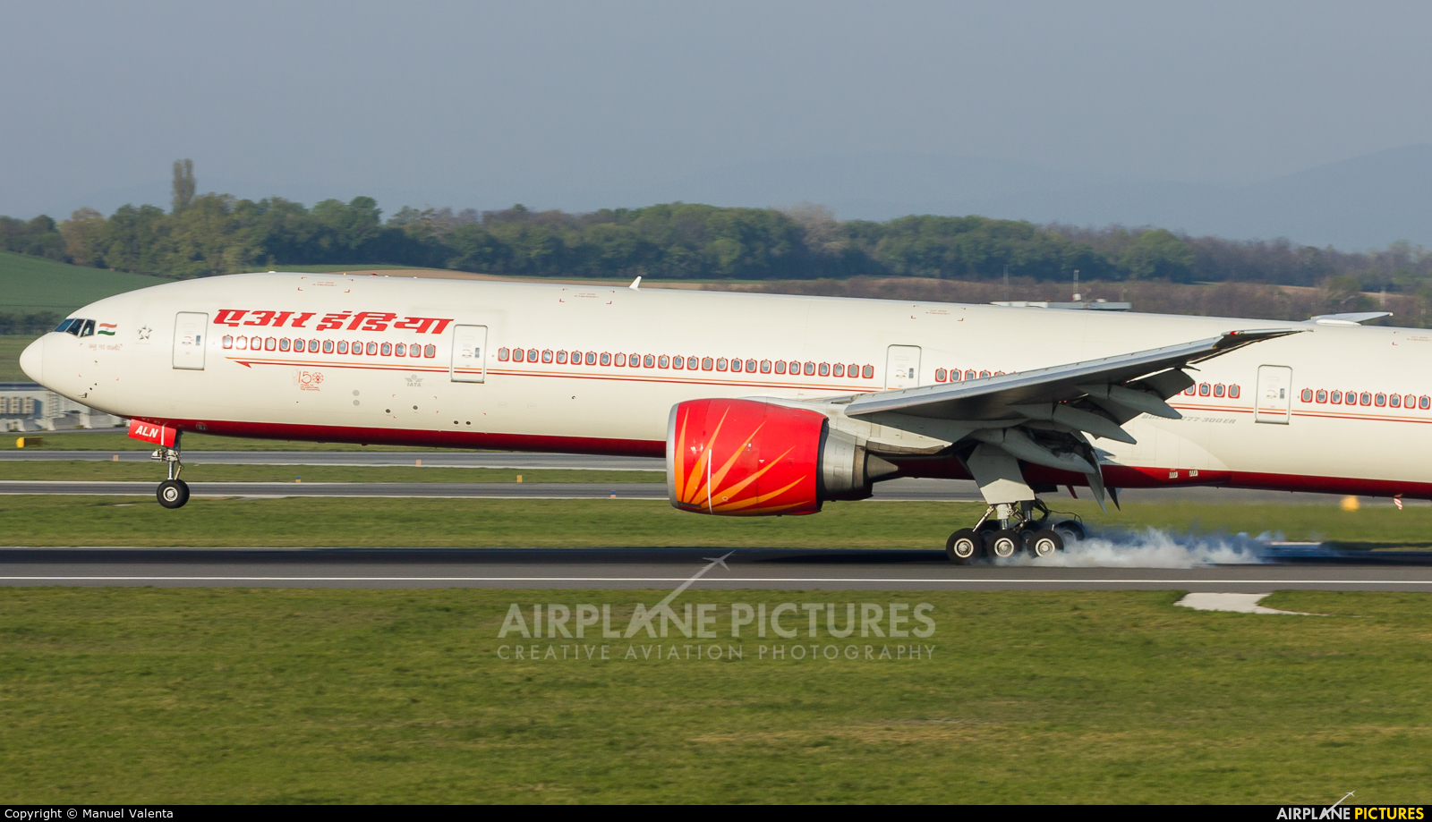 Air India VT-ALN aircraft at Vienna - Schwechat