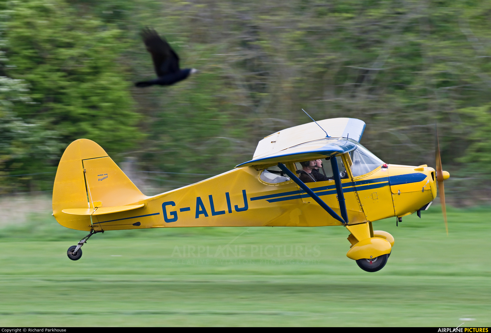 Private G-ALIJ aircraft at Old Warden