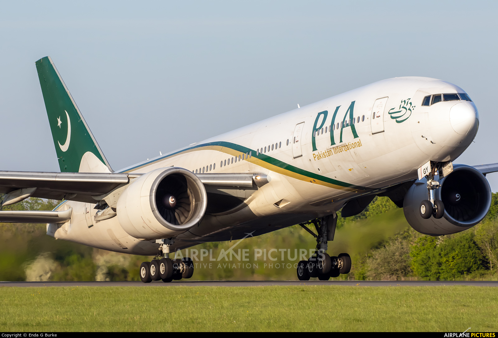 PIA - Pakistan International Airlines AP-BGY aircraft at Manchester