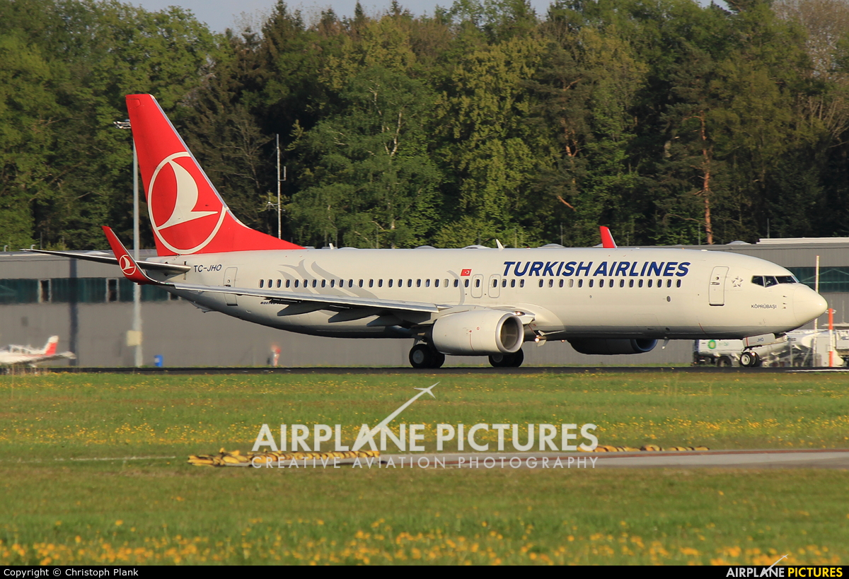 Turkish Airlines TC-JHO aircraft at Friedrichshafen