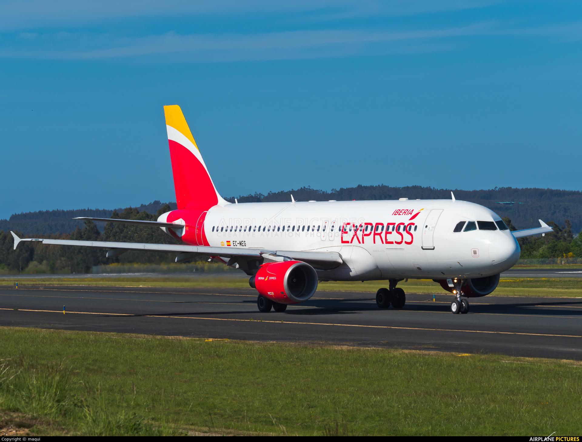 Iberia Express EC-MEG aircraft at Santiago de Compostela