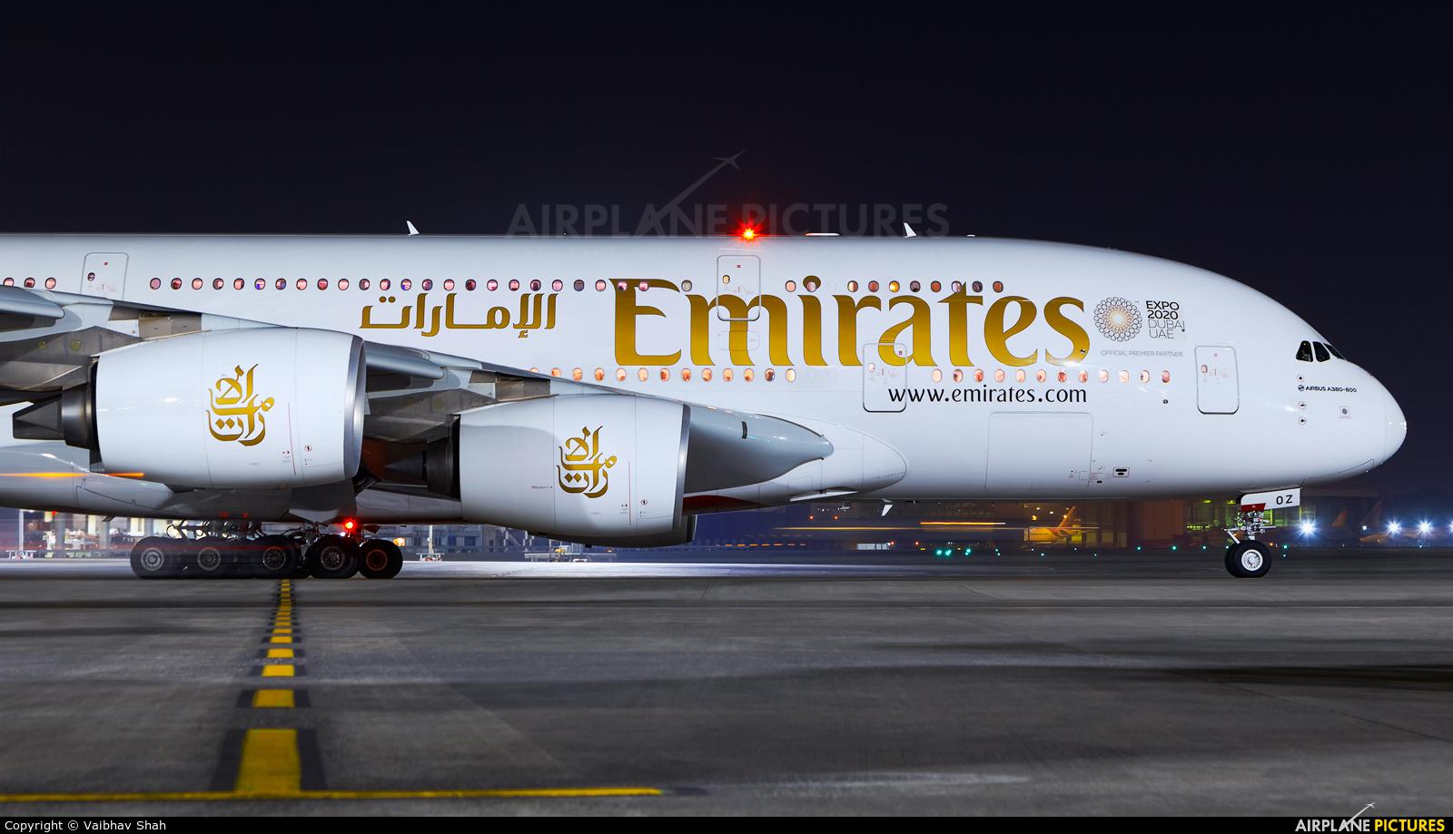 Emirates Airlines A6-EOZ aircraft at Mumbai - Chhatrapati Shivaji Intl