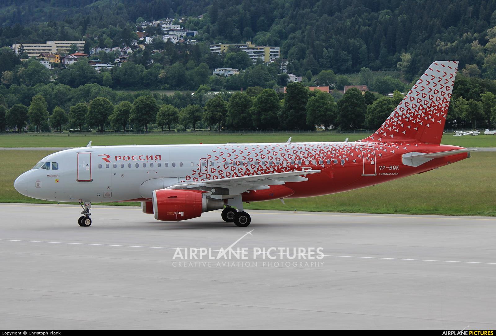 Rossiya VP-BQK aircraft at Innsbruck