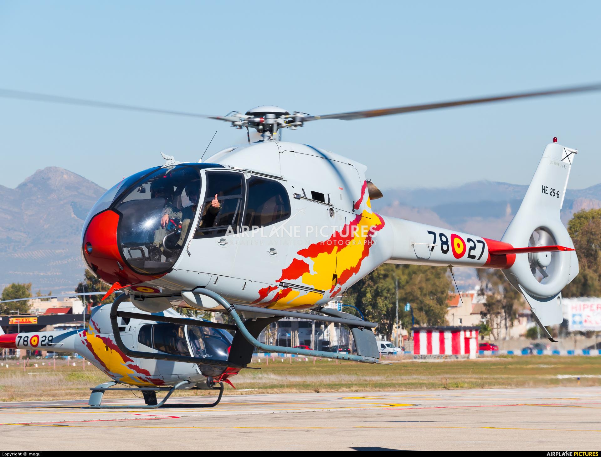 Spain - Air Force: Patrulla ASPA HE.25-8 aircraft at Granada - Armilla