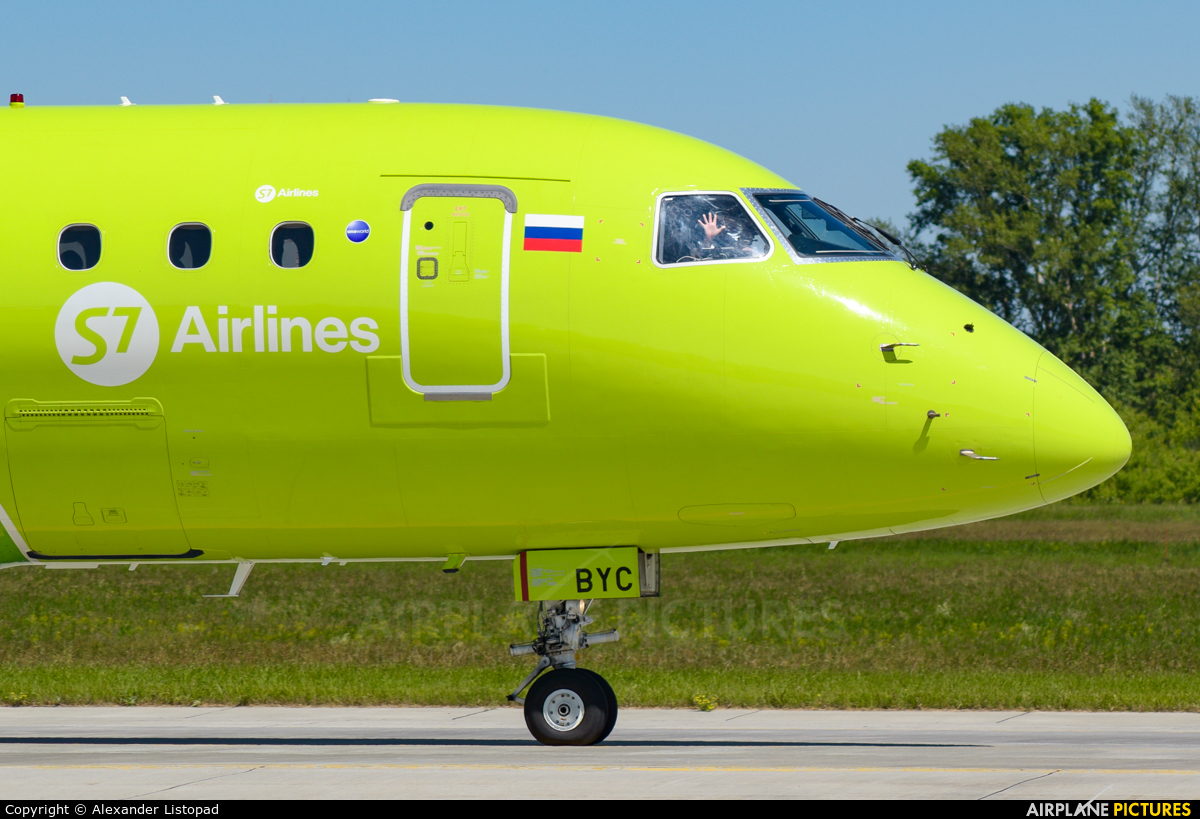 S7 Airlines VQ-BYC aircraft at Novosibirsk
