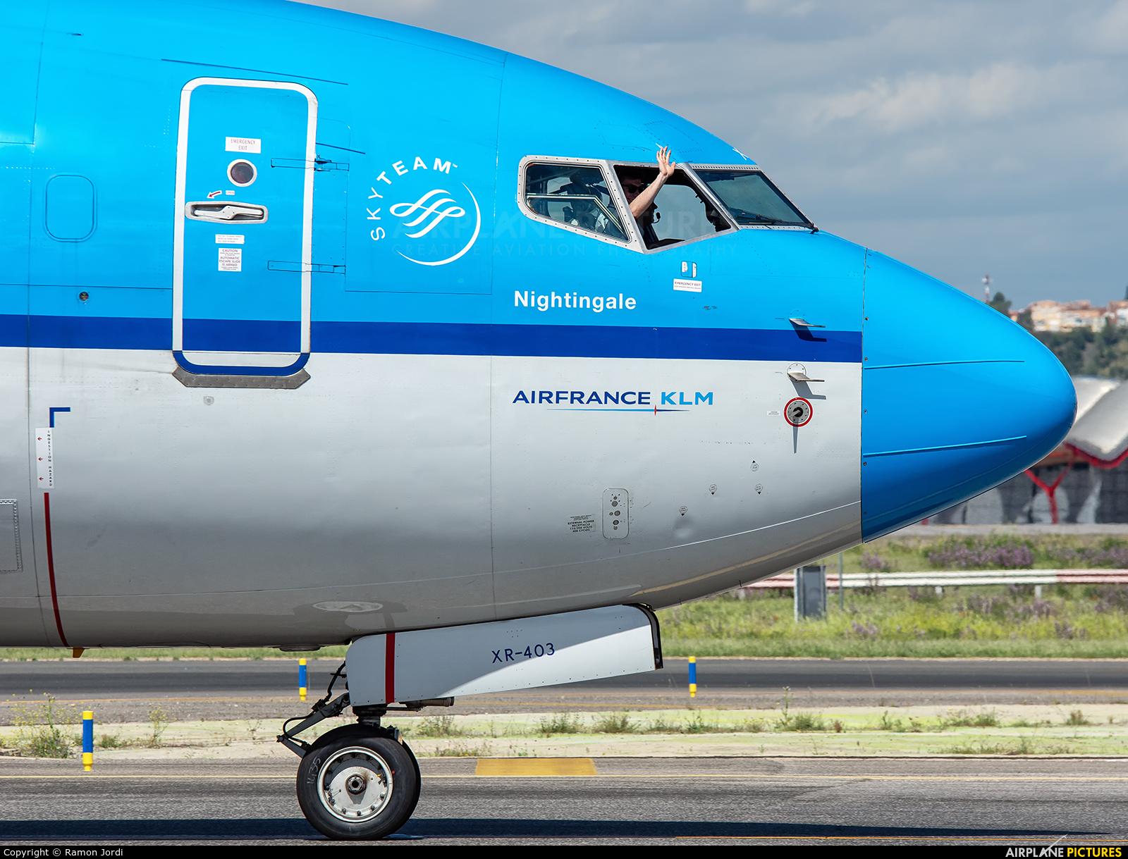 KLM PH-BXR aircraft at Madrid - Barajas