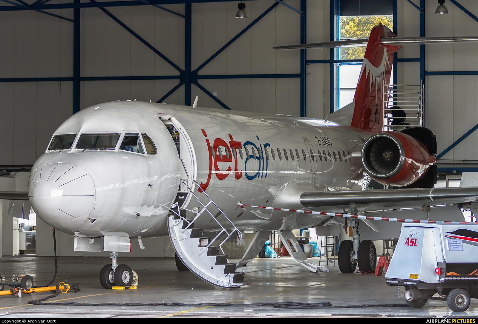 Jetair Caribbean 2-JACC aircraft at Eindhoven