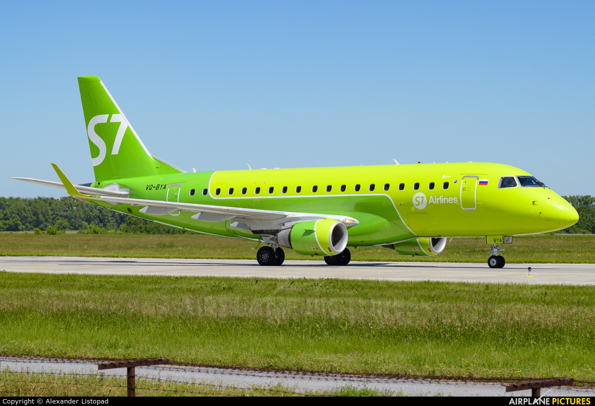 Siberia Airlines VQ-BYA aircraft at Novosibirsk