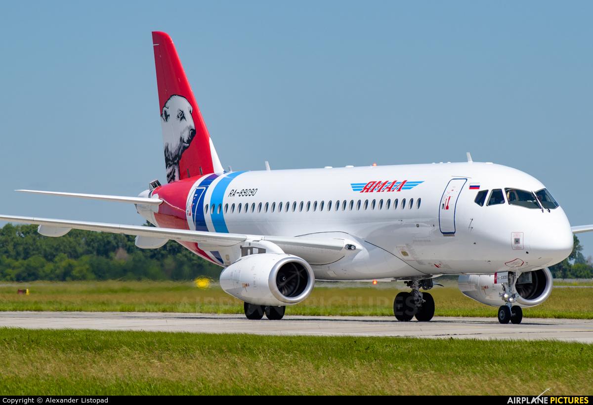 Yamal Airlines RA-89090 aircraft at Novosibirsk
