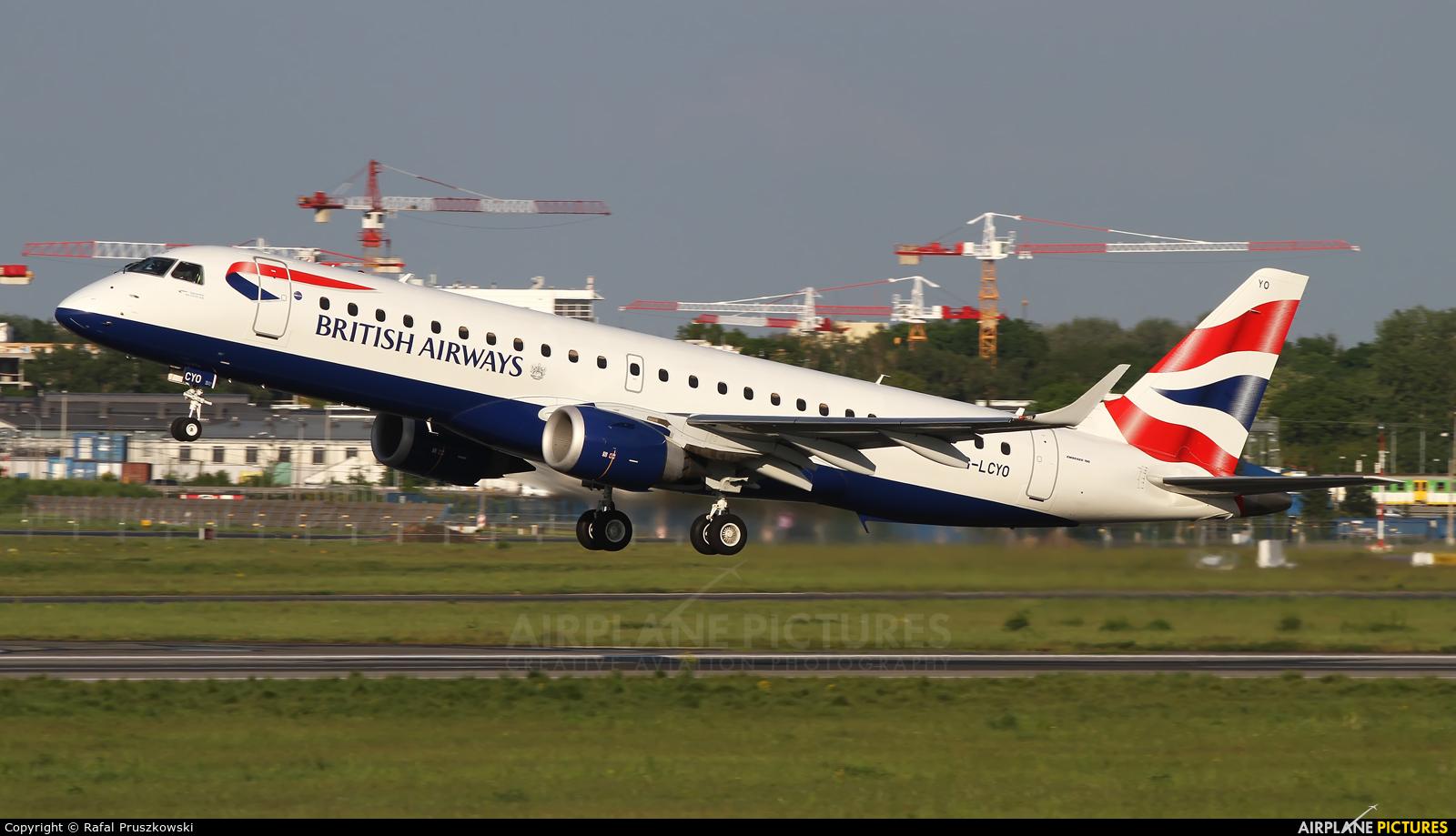 British Airways - City Flyer G-LCYO aircraft at Warsaw - Frederic Chopin