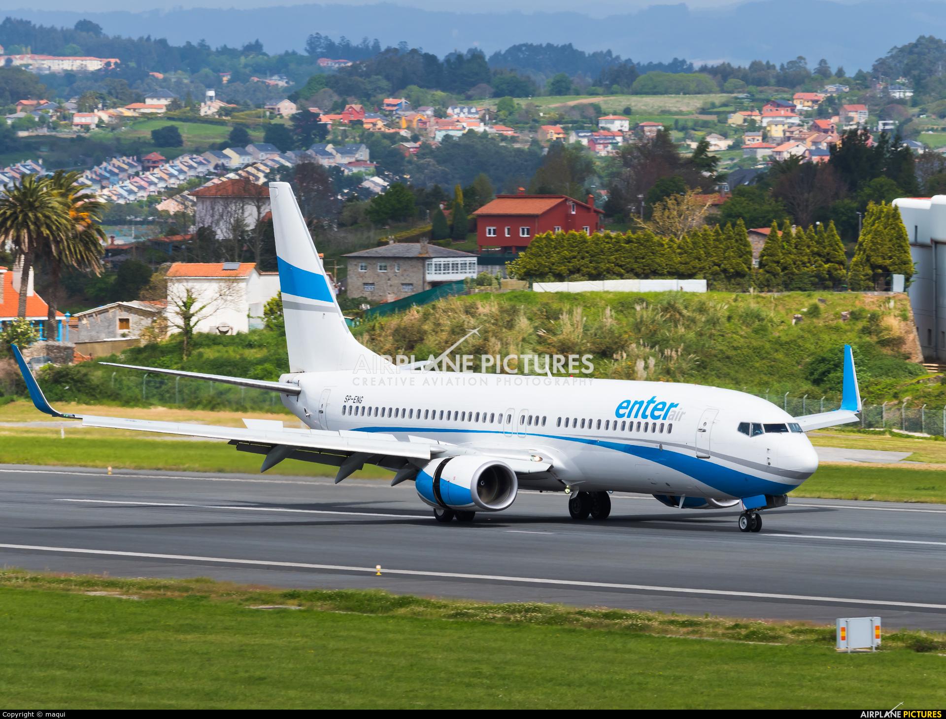 Enter Air SP-ENG aircraft at La Coruña