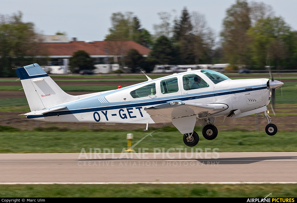 Private OY-GET aircraft at Augsburg