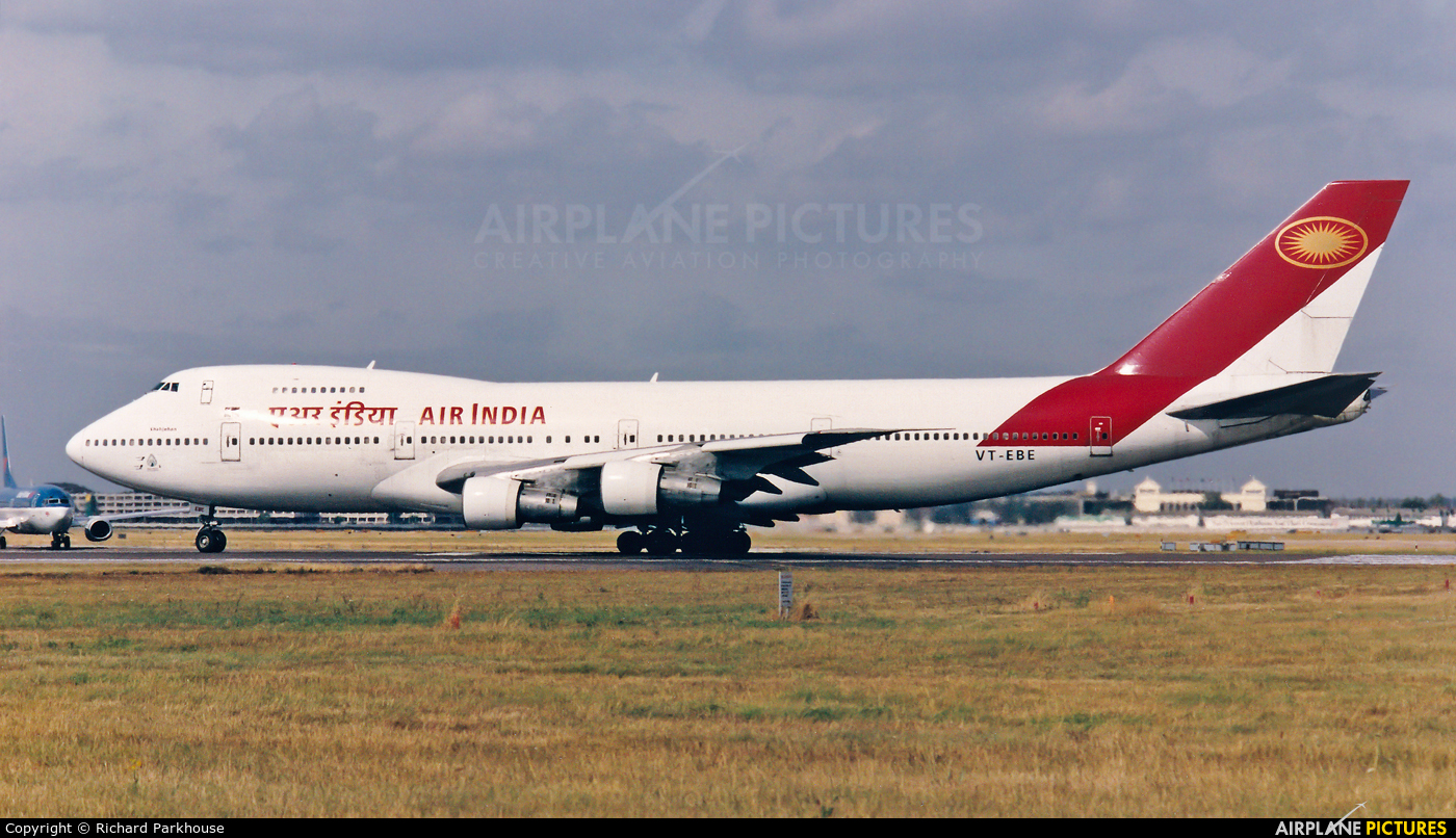 Air India VT-EBE aircraft at London - Heathrow