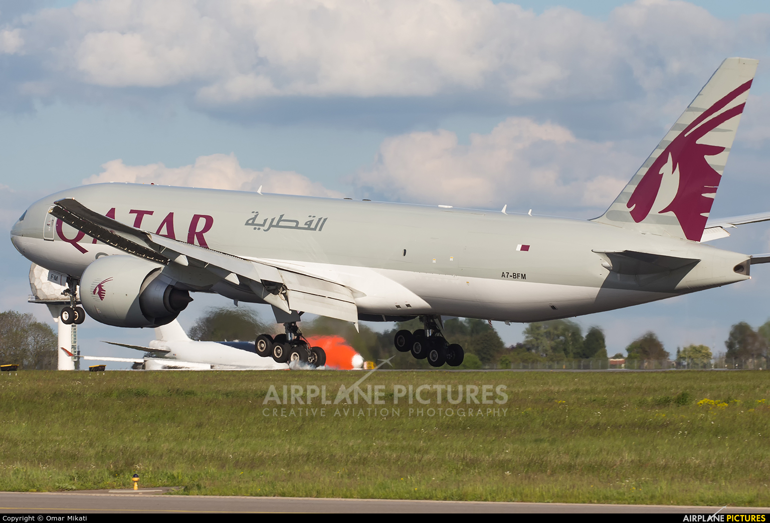 Qatar Airways Cargo A7-BFM aircraft at Luxembourg - Findel