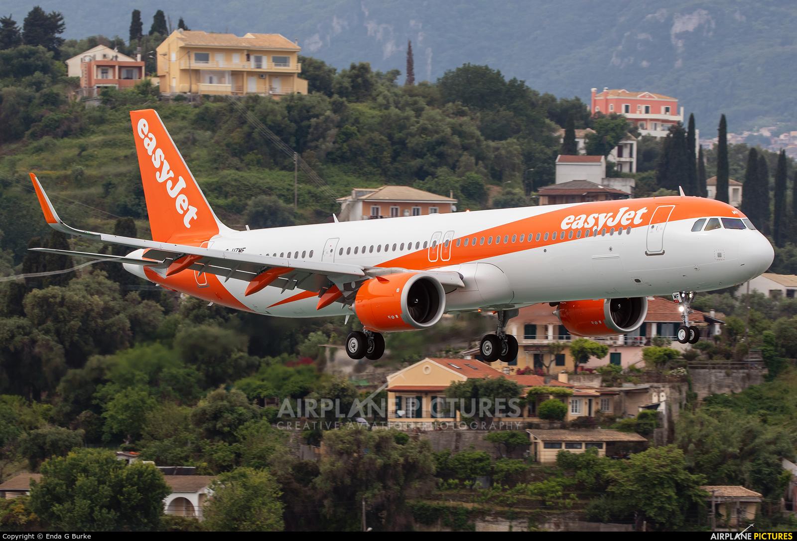easyJet G-UZMF aircraft at Corfu - Ioannis Kapodistrias