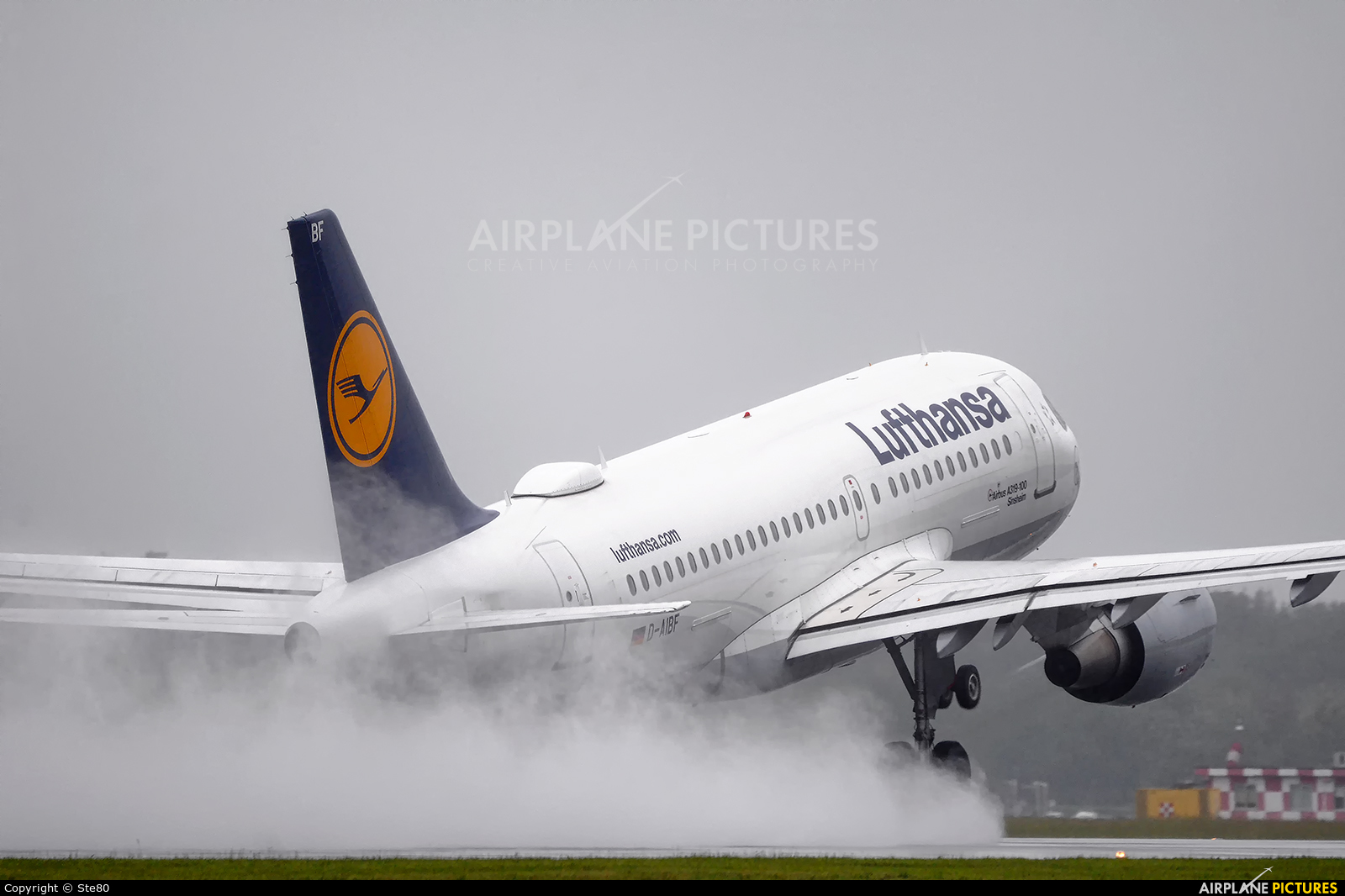 Lufthansa D-AIBF aircraft at Milan - Malpensa