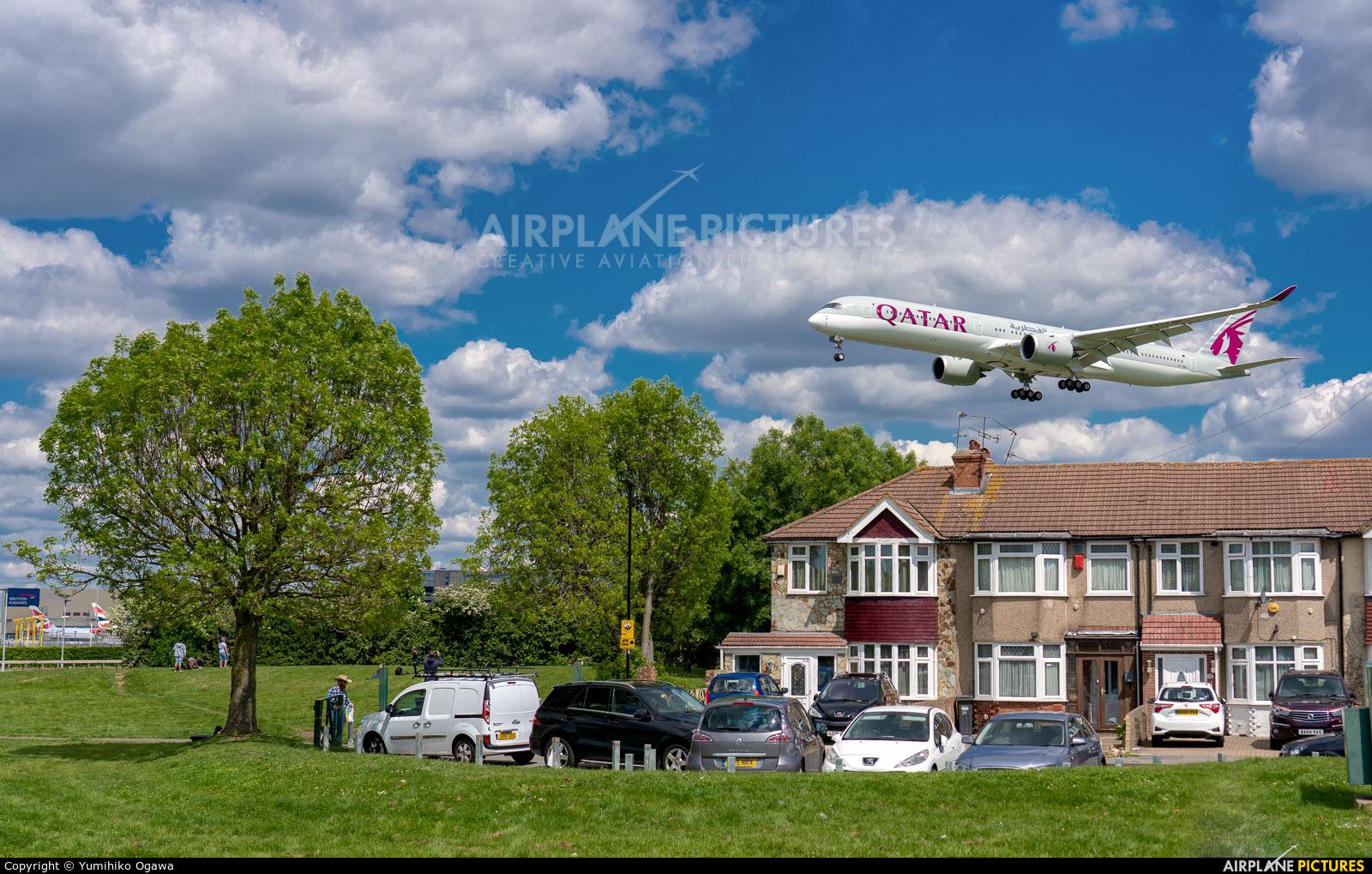 Qatar Airways A7-ANC aircraft at London - Heathrow