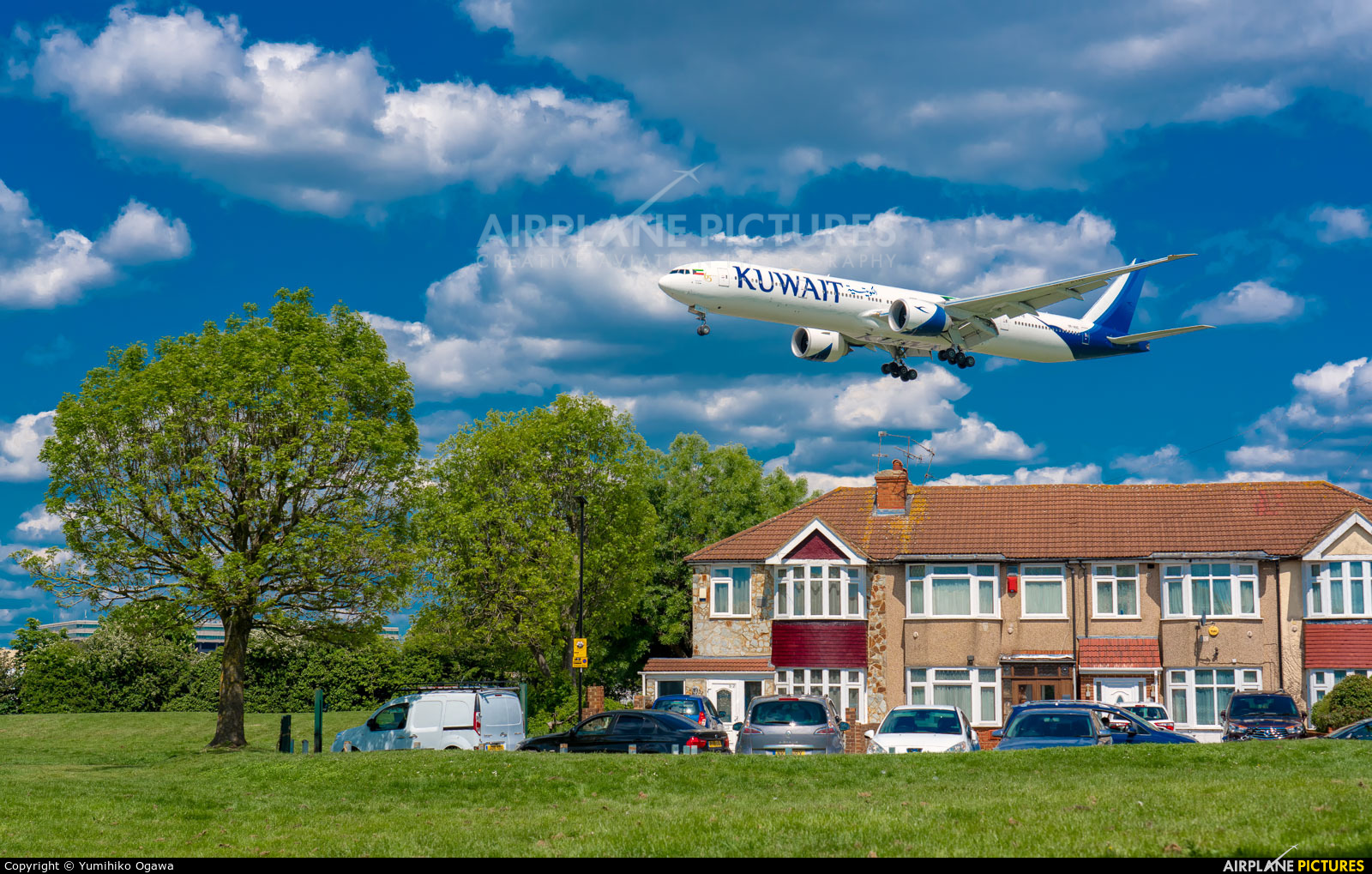 Kuwait Airways 9K-AOE aircraft at London - Heathrow